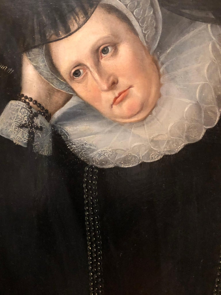 Lady Dormore - A 16th Century Portrait of a key member of Shakespeare's England - Old Masters Painting by John De Critz
