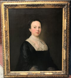 Oil painting Portrait of Lady Townsend 18th Century