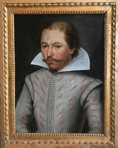 16th Century Oil Painting Portrait of Sir Francis Drake