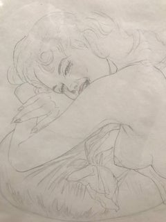 C 20th Portrait of Female Nude by Hollywood favourite Vargas: 'Reclining Nude'