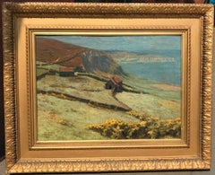Beautiful Impressionist Landscape Painting of the Coast at Ravenscar, 1923