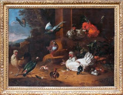 Beautiful 17th Century Dutch Oil Painting - An Assembly of Birds