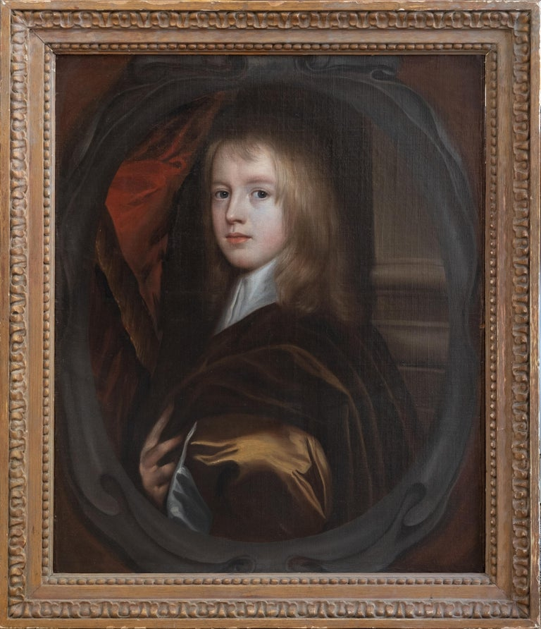Gerard Soest Portrait Painting - 17th Century Oil Painting Portrait of a Young English Boy