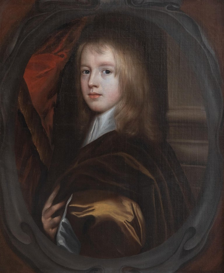 Gerard SOEST (1600 - 1681) Portrait of a Young Boy oil on canvas 35.5 x 30.5 inches inc. frame  Gerard Soest (circa 1600 – 11 February 1681), also known as Gerald Soest, was a portrait painter who was active in England during the late 17th century.