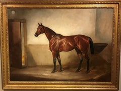 Luminous Oil Painting of a Horse by John Alfred Wheeler 'Bay Hunter'