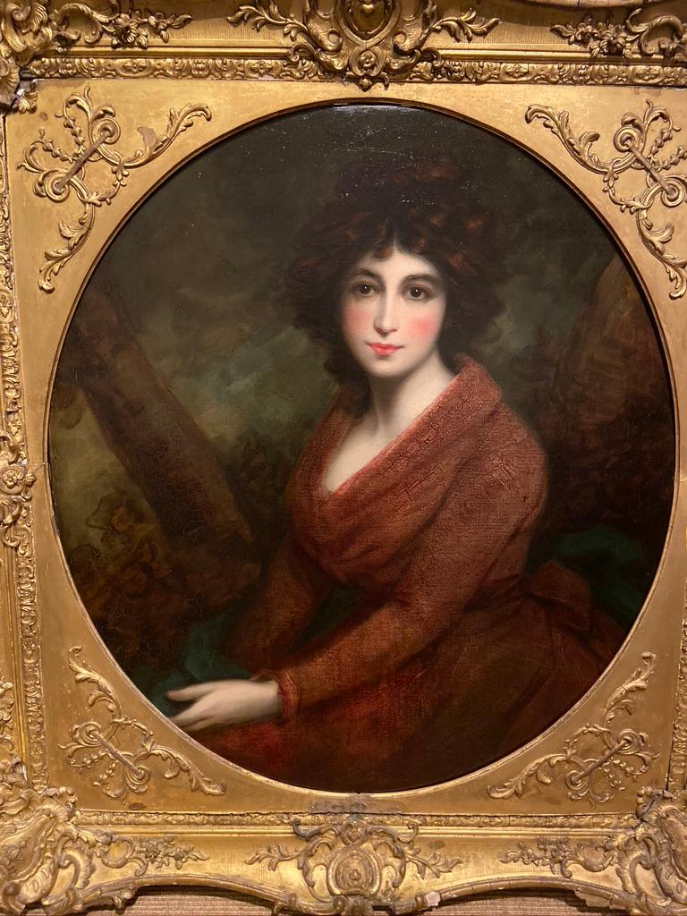 John Opie RA (1761-1807, English)  c. 1802 Oil on canvas  Canvas dimensions 36 x 32 inches Framed dimensions 46.5 x 43.25 inches  Original gilded period frame.  John Opie was a Cornish historical and portrait painter. He painted many great men and