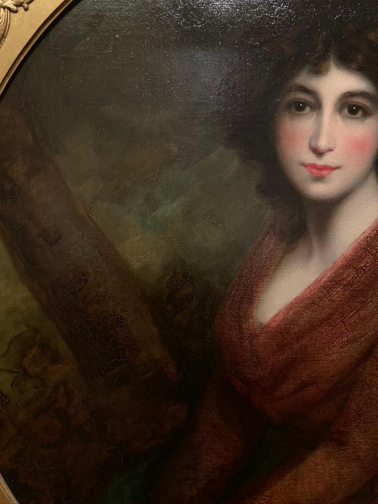 19th Century Oil Painting Portrait of a Muse For Sale 5