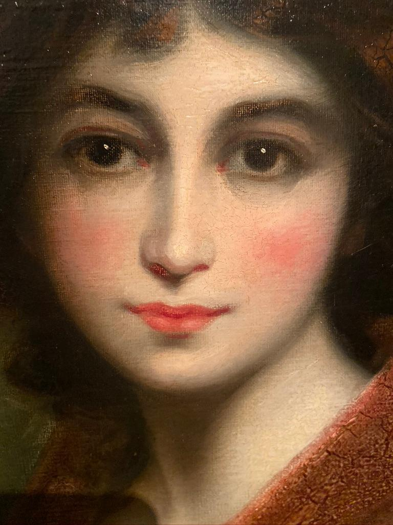19th Century Oil Painting Portrait of a Muse For Sale 3
