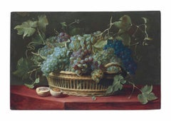 17th Century Flemish still life basket of grapes by Studio of Frans Snyders