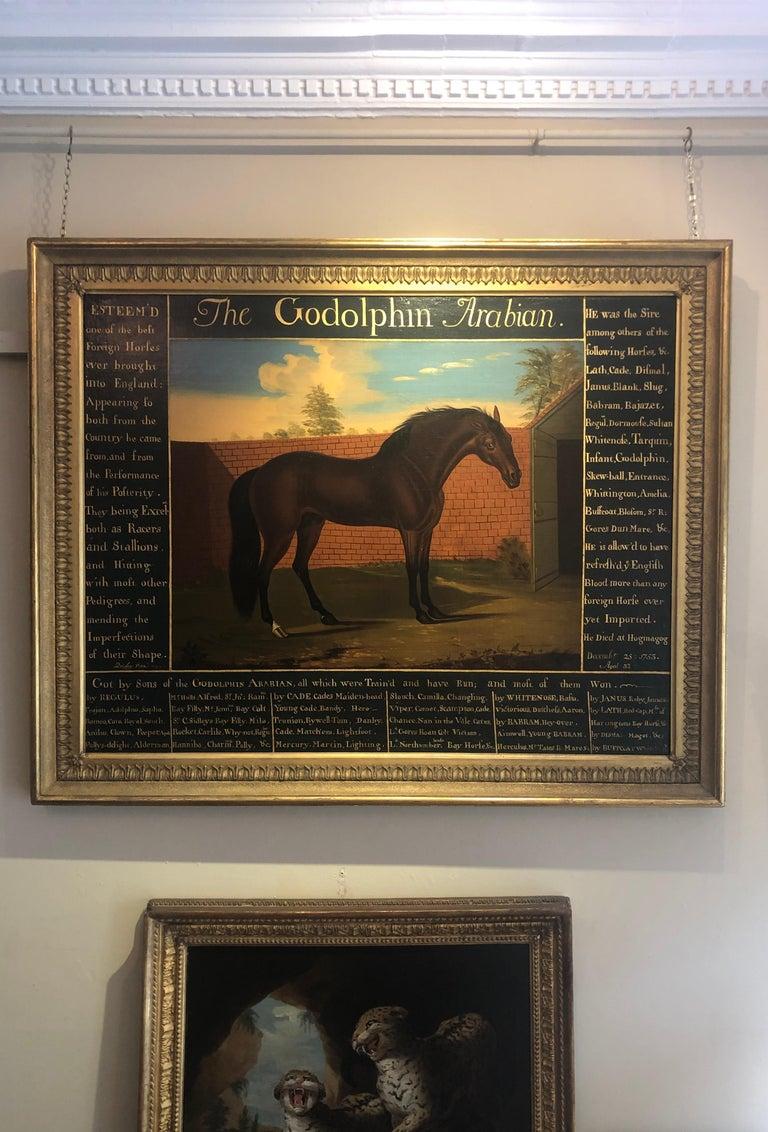 The Godolphin Arabian an 18th Century Masterpiece  - Black Animal Painting by Daniel Quigley