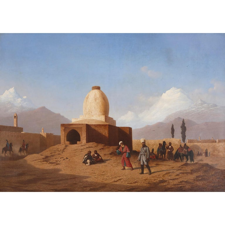 Orientalist oil painting in giltwood frame by Frère  - Painting by Charles-Theodore Frere