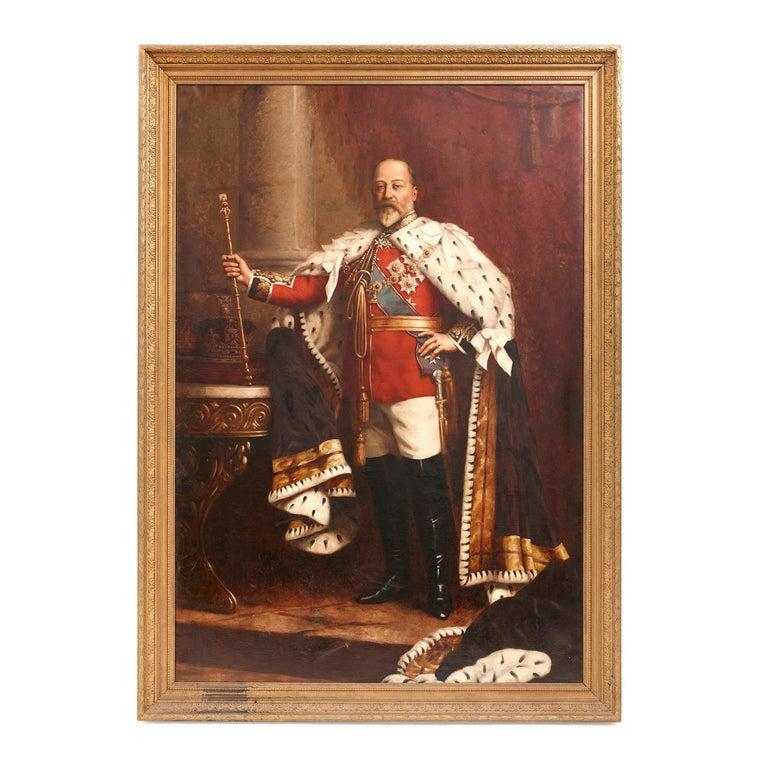 Charles Willis - Large portrait painting of Edward VII ...