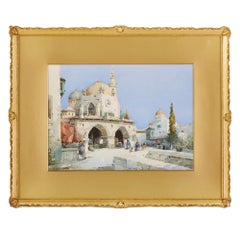 Orientalist view of a mosque by Leaver