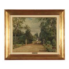 Glimpse by Giannino Grossi Boboli Garden Painting 1933