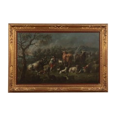Landscape with herds and shepherds
