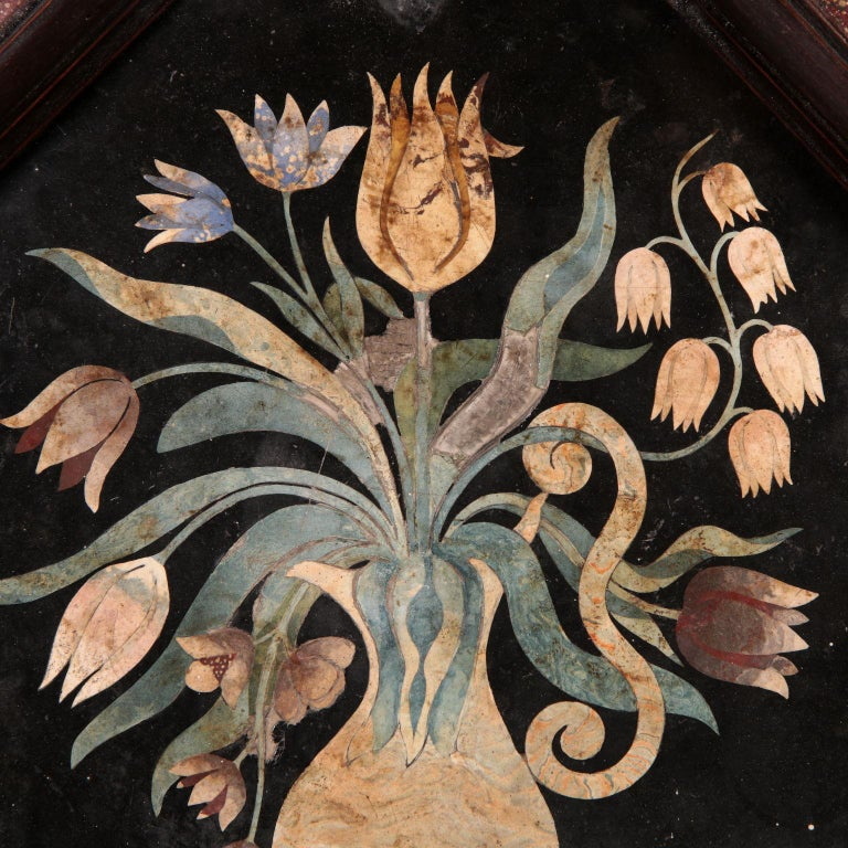 Scagliola, Flowers Vase Tuscany, end 17th century. - Other Art Style Art by Unknown