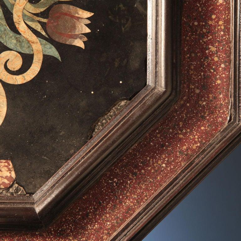 Scagliola, Flowers Vase Tuscany, end 17th century. 5