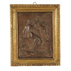 Neoclassical Wax Bas-Relief Depicting Venus Italy Late 18th Century