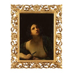 Copy of Guido Reni's Lucretia, Painting Oil on Canvas 17th Century