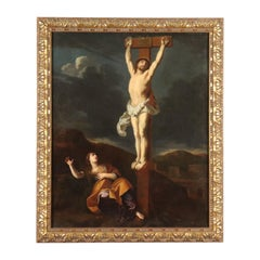 Crucified Christ. Attributed to Lieven Mehus Oil on Canvas 17th Century