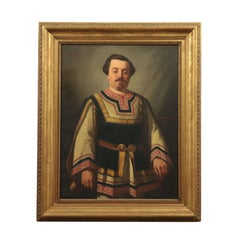 Achille Zo Oil on Canvas 19th Century, Great Male Portrait