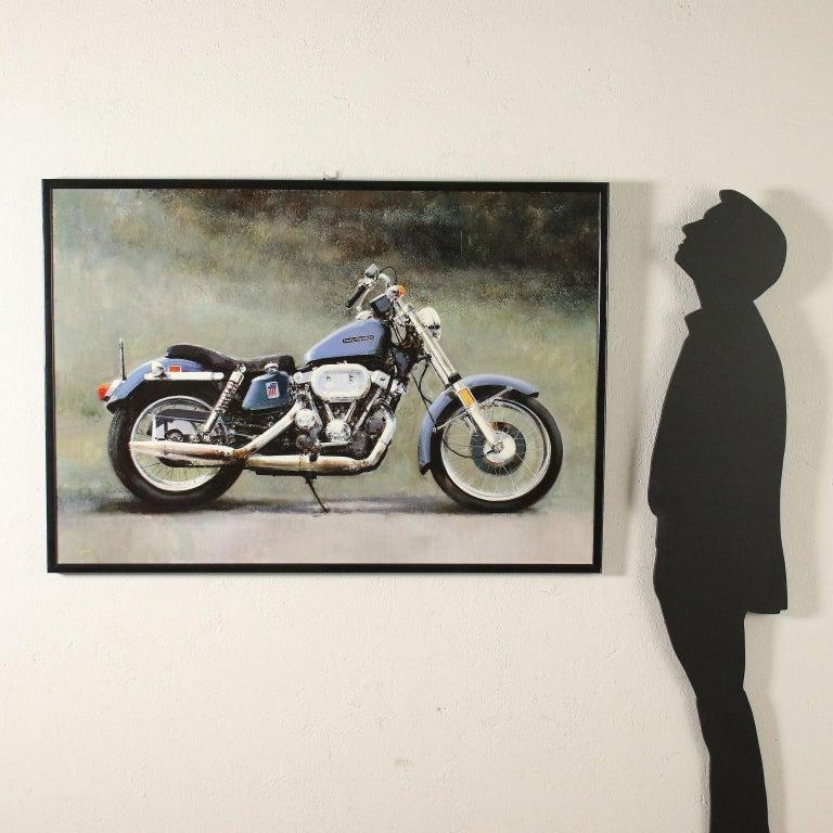 Luigi Rocca Acrylic On Canvas 20th Century, Harley-Davidson Sportster 900, 1996 - Contemporary Art by Luigi Rocca