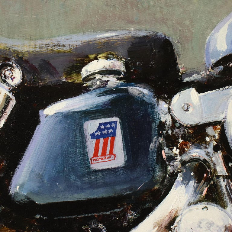 Luigi Rocca Acrylic On Canvas 20th Century, Harley-Davidson Sportster 900, 1996 3