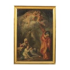 Ferdinando Porta Oil On Canvas Mid '700. Rest During The Flight Into Egypt