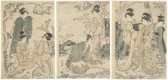 Choki Eishosai, Parody, Kimono, Courtesan, Japanese Woodblock Print, Edo Period