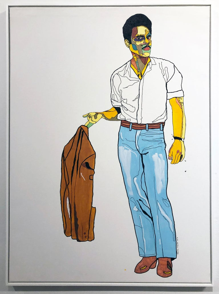 Cacho Falcon Figurative Painting - Undress