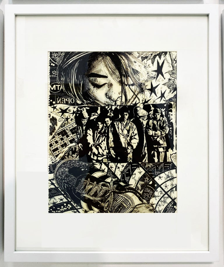 "Shuto Okayasu Abstract Drawing - Strange Night ""Think Twice"""