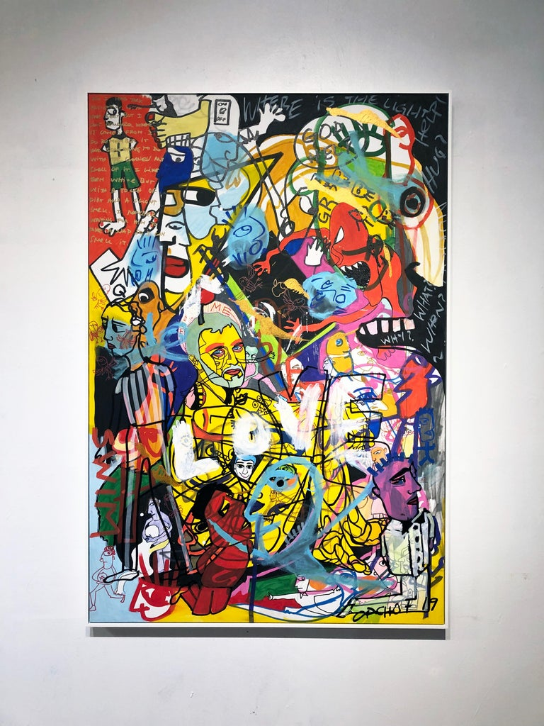Chaos and Love - Painting by Cacho Falcon