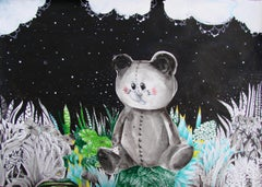 Soap clouds - Drawing, Contemporary, Fantasy, Animals, Children's Room