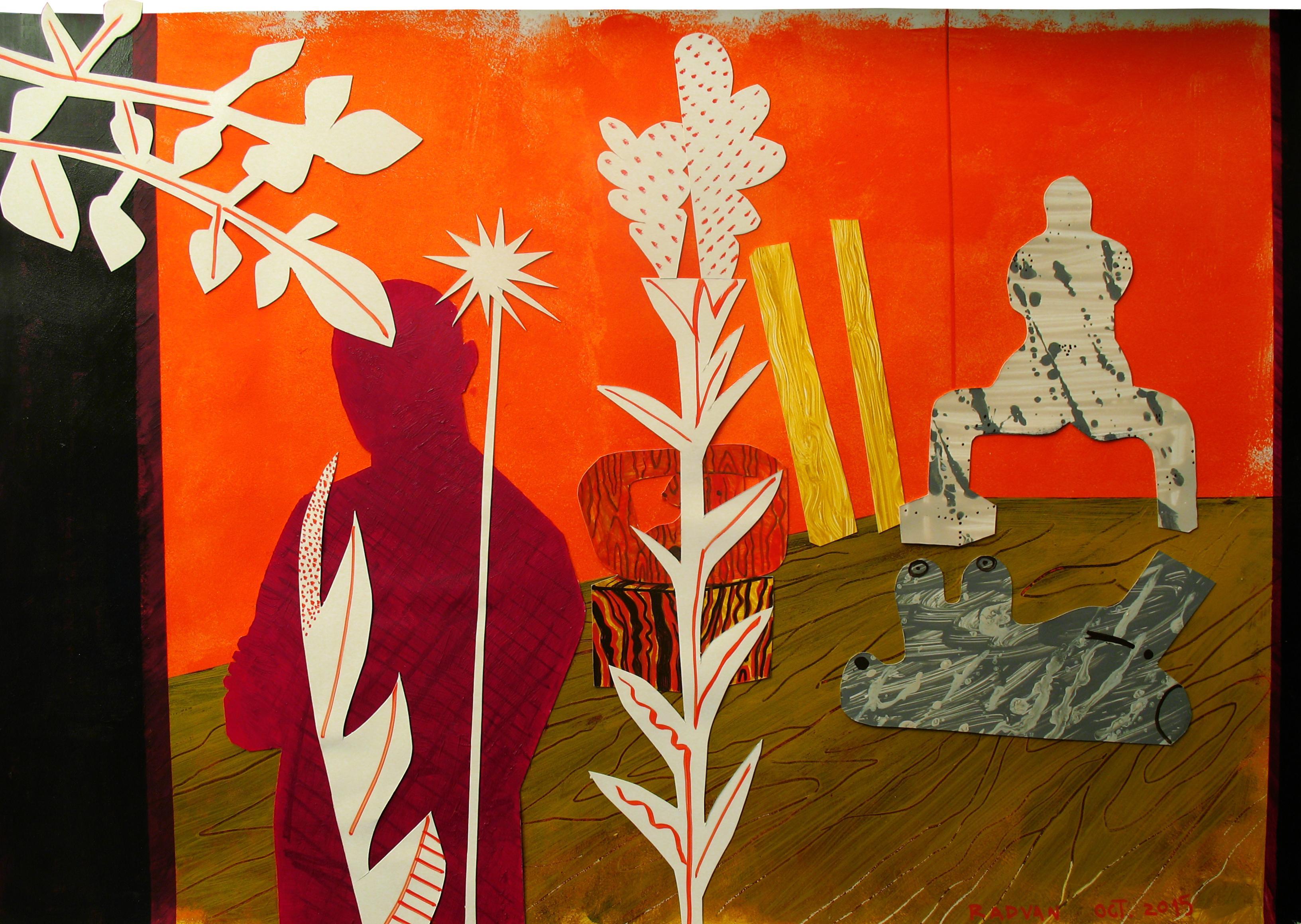 Pygmalion - Sculptor Studio II - 21st Century, Female, Couple, Nude, Flowers