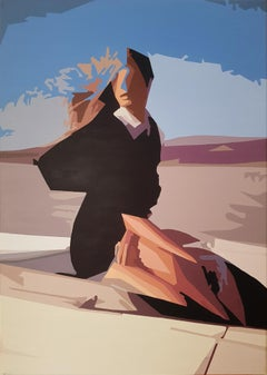 One Early Afternoon - 21st Century, Blue, Female, Sky, Contemporary Painting