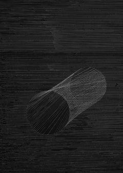 G_IX - 21st Century, Abstract, Drawing, Conceptual Art, Minimalist, Black, White