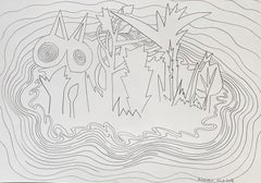 Island for Umberto 02 - Contemporary, Drawing, Nature, Summer, Butterfly, Island