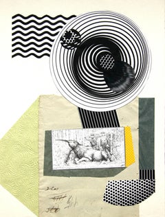 The Antiquarian - 21st Century, Collage, Yellow, Black, Contemporary Art