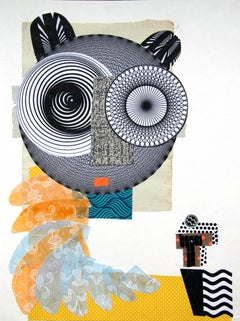 The Archangel - Contemporary Art, Collage, Funny Character, Yellow
