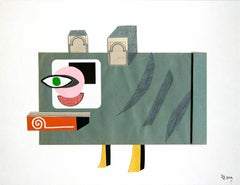 The Jester in Disguise - 21st Century, Green, Yellow, Funny, Collage