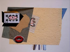 The Card Player - Contemporary Art, Collage, 21st Century