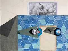 The Man Who Sees Everything - Contemporary Art, Blue, 21st Century