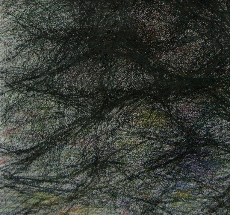 Untitled 01 - Abstract, Drawing on Canvas, Gray, Organic, 21st Century - Abstract Expressionist Art by Zsolt Berszán