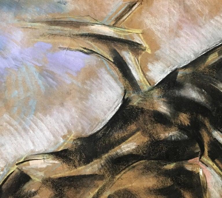 Horse II -  21st Century, Figurative Drawing, Animal, Colored Pencil, Brown - Expressionist Art by Dinu Rădulescu