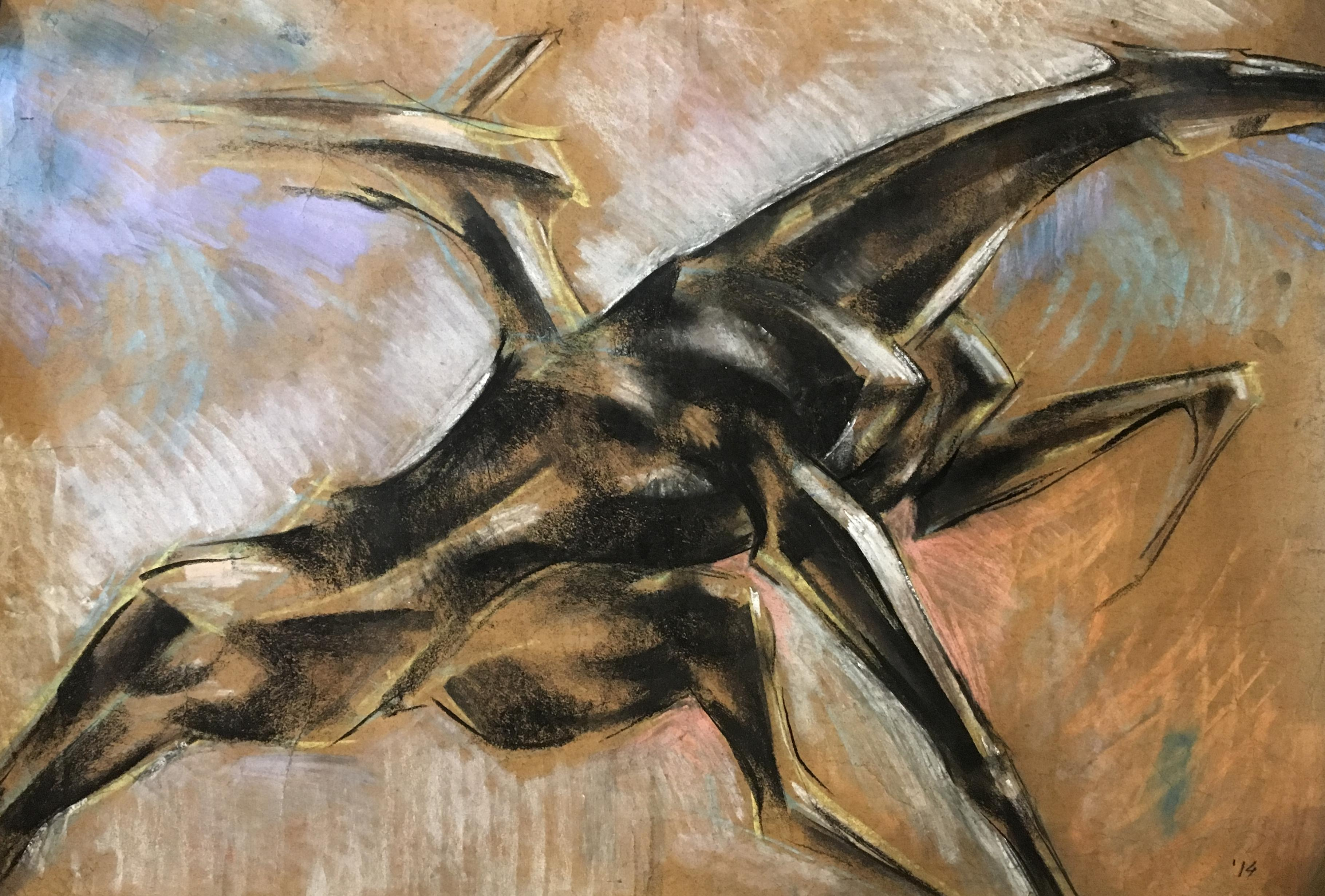 Horse II -  21st Century, Figurative Drawing, Animal, Colored Pencil, Brown