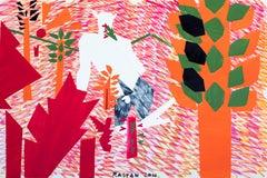 Last Garden - Contemporary, Figurative Art, Red, Orange, Nude, Male
