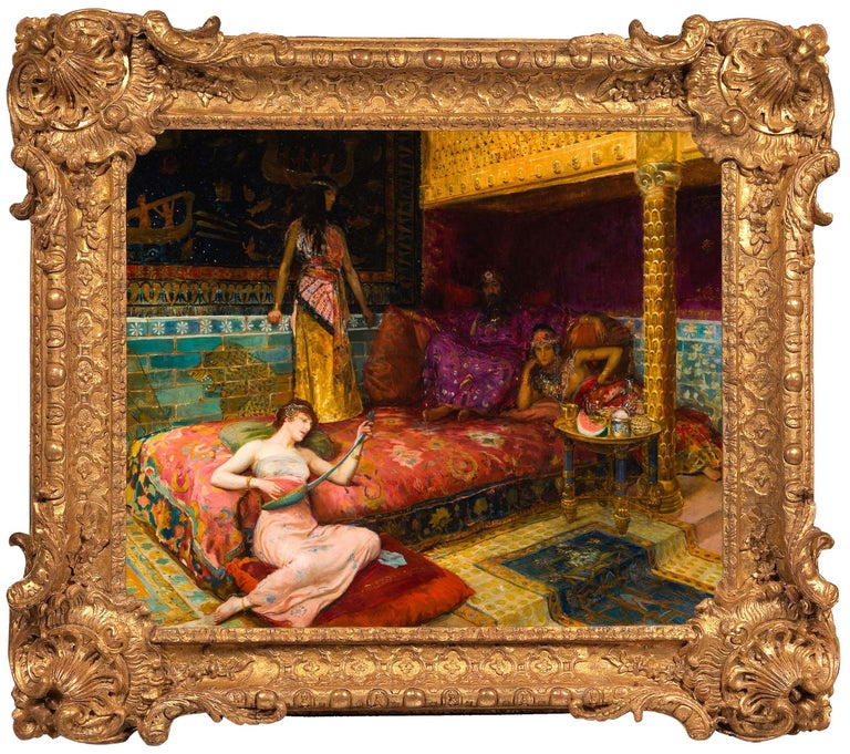 <i>Chez le Satrape de Susiane,</i> 1891, by Georges Rochegrosse, offered by Galerie de Souzy