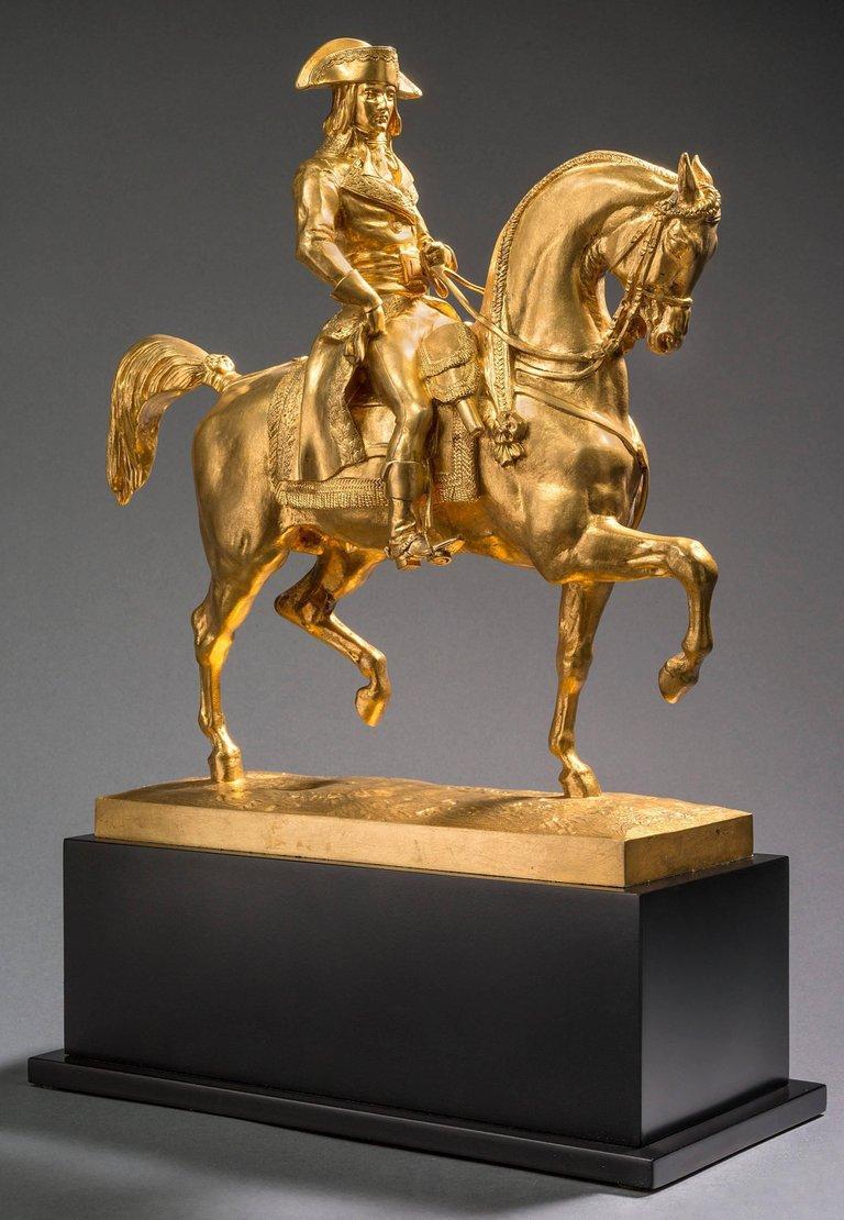 Antoine-Louis Barye  Figurative Sculpture - Le Général Bonaparte, Campagne d'Egypte, 1798