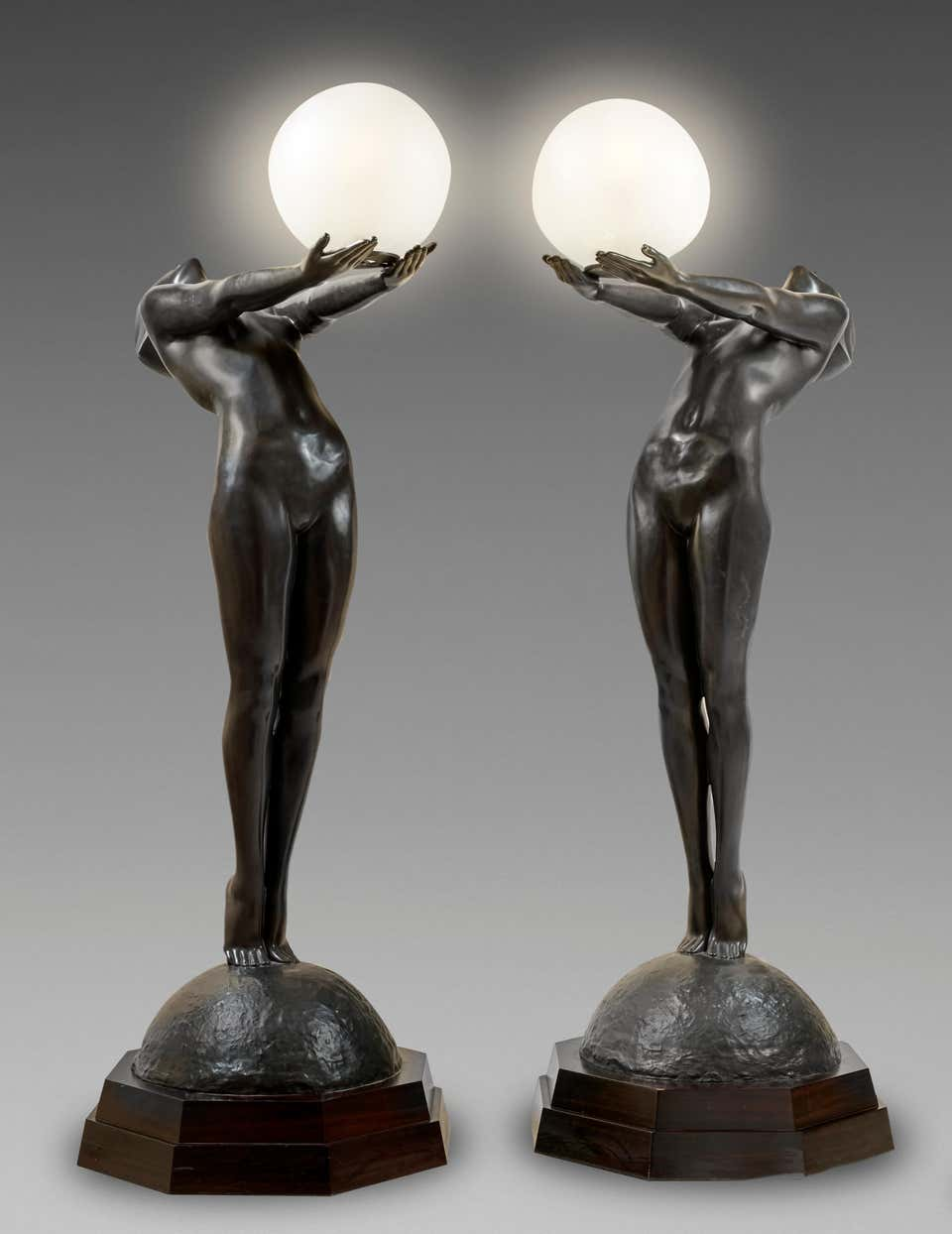 Original Bronze Statue of 3 Men by Pierre LaFaguays at 1stdibs