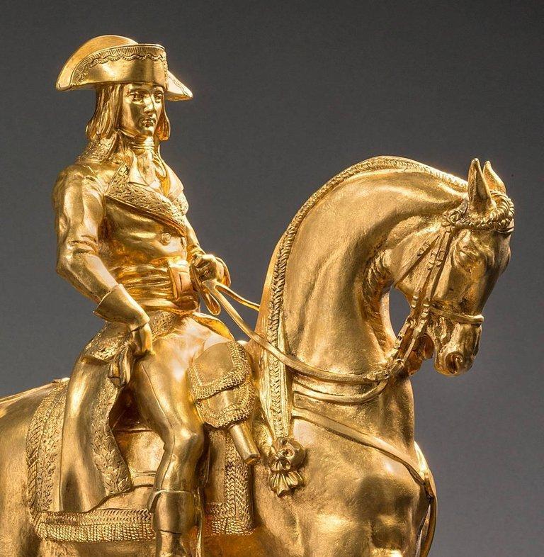 Le Général Bonaparte, Campagne d'Egypte, 1798 - Sculpture by Antoine-Louis Barye